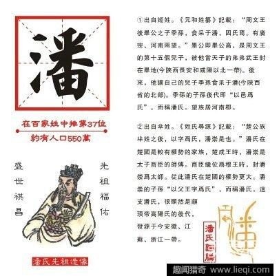 据《姓氏寻源》和《潘氏家谱》及《史记·楚世家》所载,公族