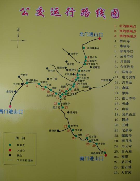【关注】中国·五台山游览路线图